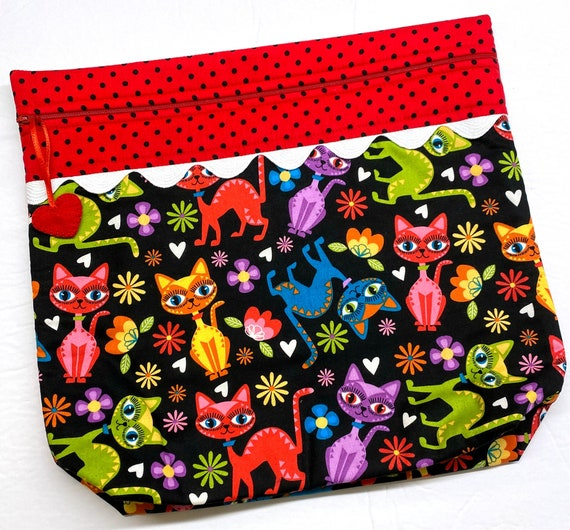 MORE2LUV Crazy Cool Cats Project Bag