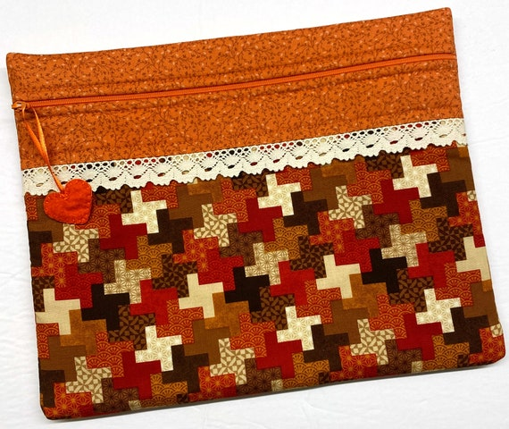 Fall's Cozy Quilt Cross Stitch Project Bag