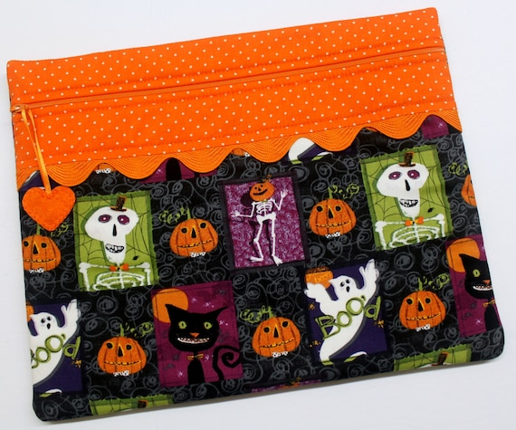 Spooky Blocks Cross Stitch Project Bag