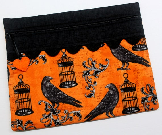 Caged Crows Cross Stitch Project Bag