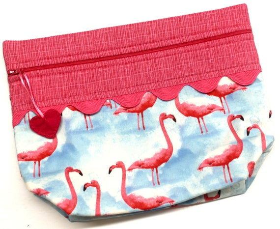 Lil' Big Bottom Flamingos Cross Stitch Bag