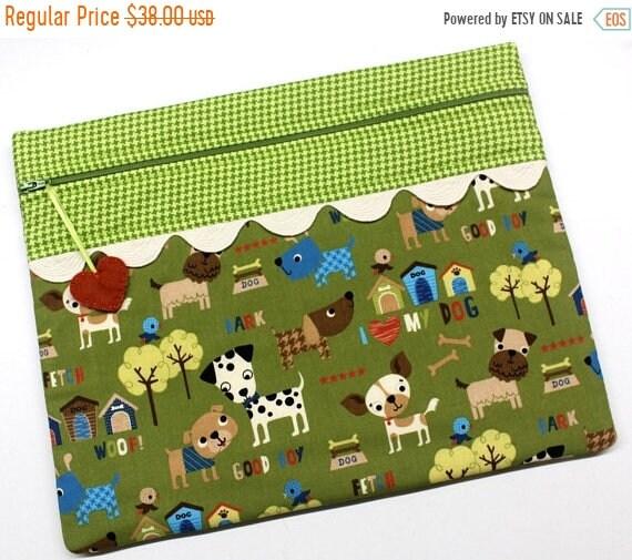 SALE I Love My Dog Cross Stitch Project Bag