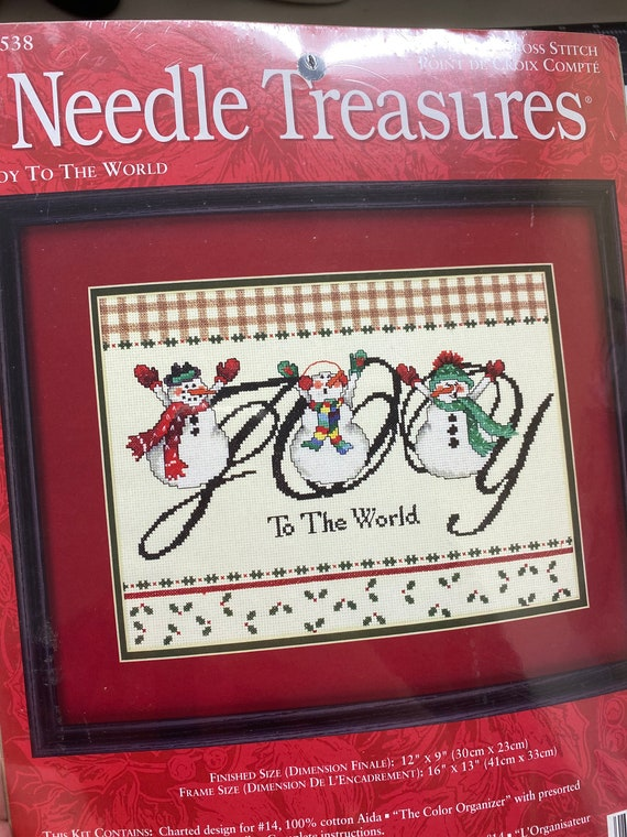 Needle Treasures  - Joy To the World Counted Cross Stitch Kit