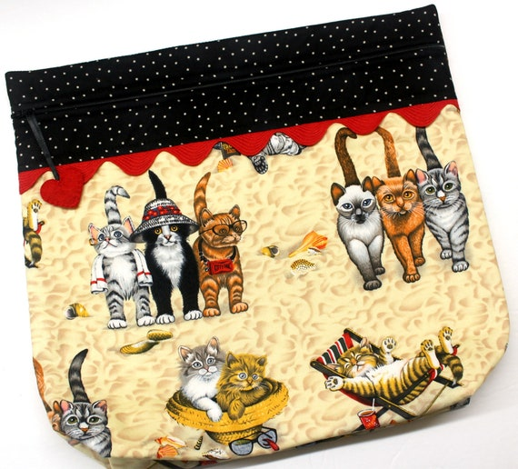 MORE2LUV Cats at the Beach Cross Stitch Project Bag