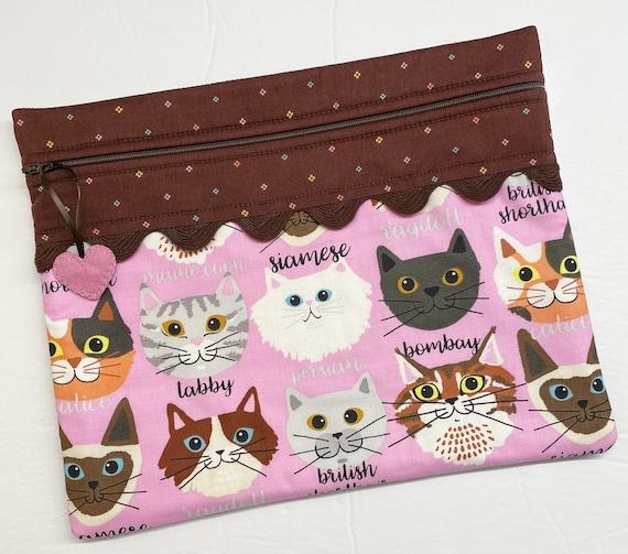 Stitching Buddy Cats Cross Stitch Project Bag