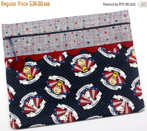 SALE Stars and Stripes Forever Cross Stitch Project Bag