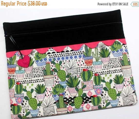 SALE Cactus Dreams Cross Stitch Project Bag