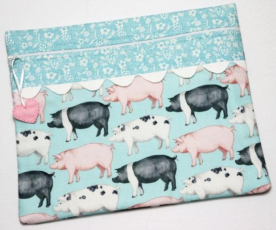 This Little Piggy Cross Stitch Project Bag