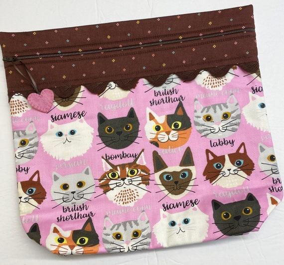 MORE2LUV Stitching Buddy Cats Cross Stitch Project Bag