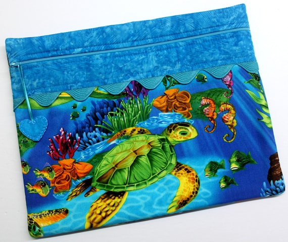 Bright Sea Turtles Cross Stitch Project Bag
