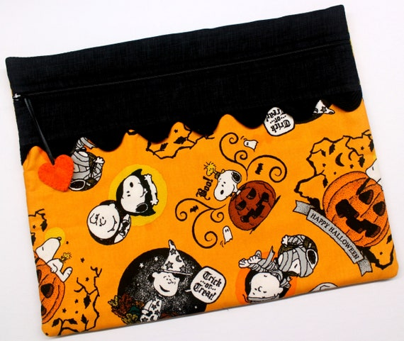 Snoopy Halloween Cross Stitch Project Bag