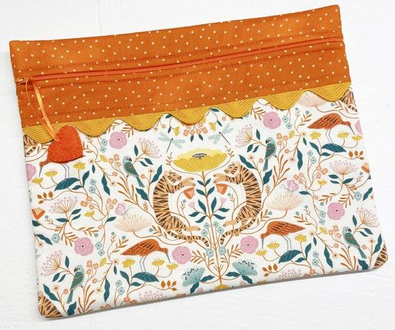 Tiger Tails Cross Stitch Project Bag