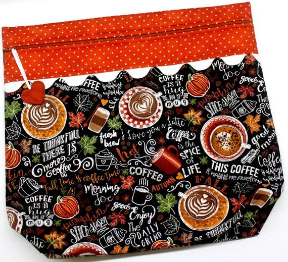 MORE2LUV Pumpkin Spice Season Cross Stitch Project Bag