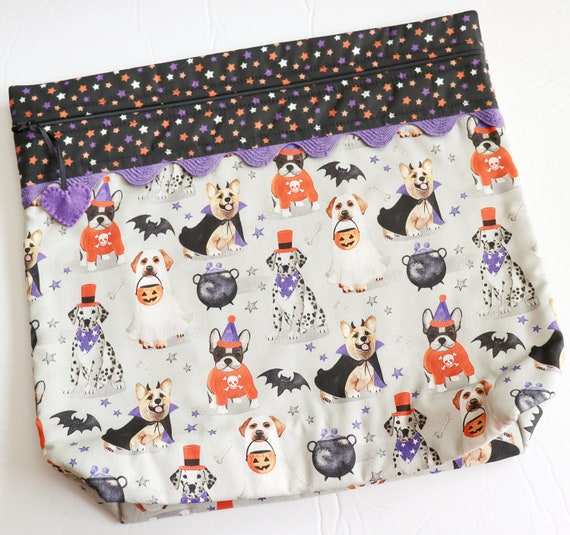 MORE2LUV Howl-o-Ween Cross Stitch Project Bag