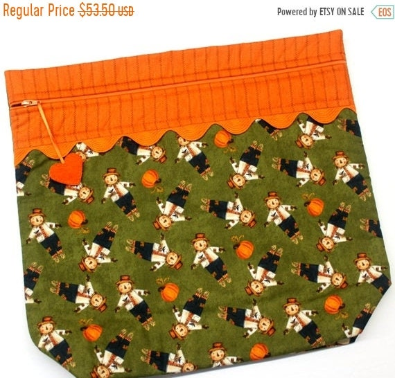 SALE MORE2LUV Sweet Scarecrows Cross Stitch Project Bag