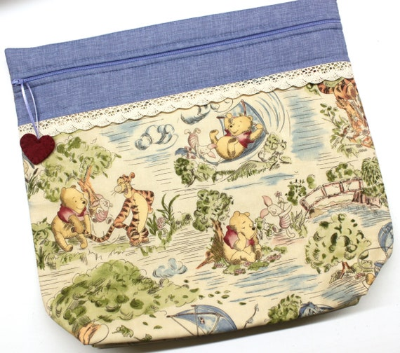 MORE2LUV Pooh's Blustery Day Cross Stitch Project Bag