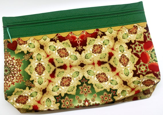 LOTS2LUV Golden Splendor Cross Stitch Project Bag