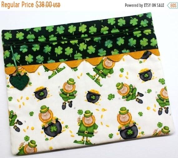 SALE Lucky Leprechaun Cross Stitch Project Bag