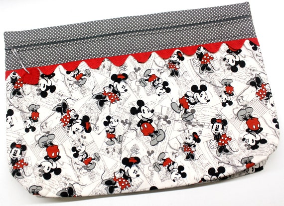 LOTS2LUV Mickey Minnie Cross Stitch Project Bag