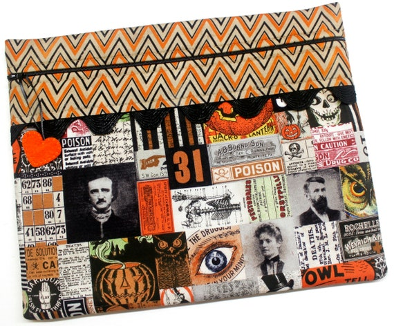 Halloween Vintage Patchwork Cross Stitch Project Bag