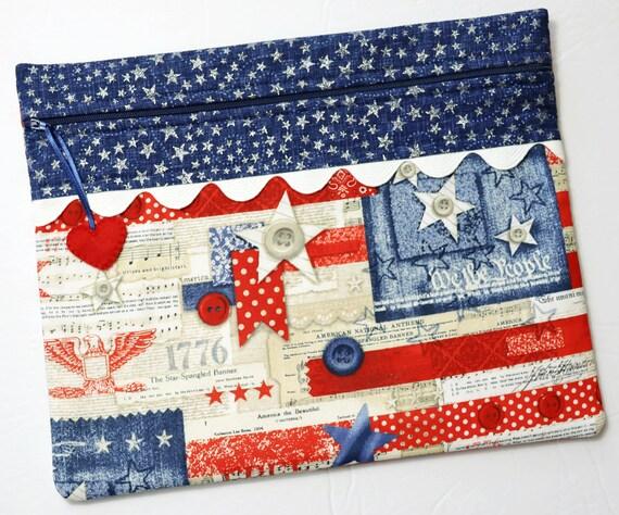 National Anthem Cross Stitch Project Bag