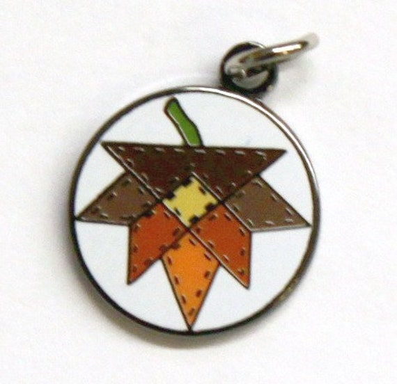 Exclusive Fall Leaf Enamel Charm