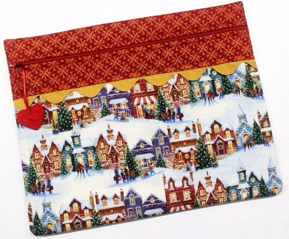 Christmas Houses Cross Stitch Project Bag
