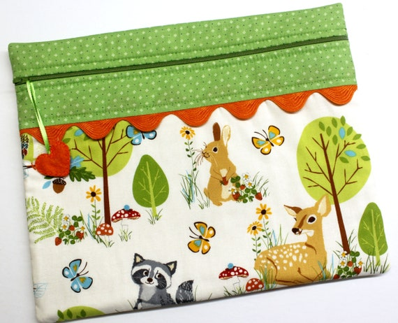 Woodland Friends Cross Stitch Project Bag