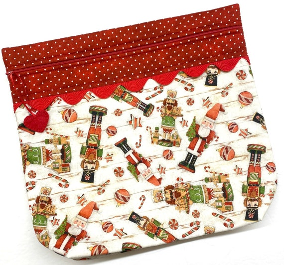 MORE2LUV Farmhouse Nutcrackers Cross Stitch Project Bag