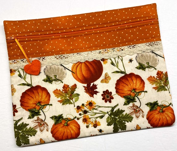Pumpkin Fields Cross Stitch Project Bag