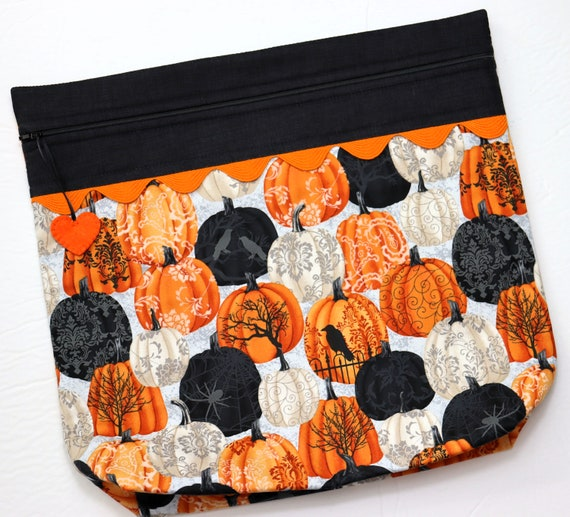 MORE2LUV Painted Pumpkins Cross Stitch Project Bag