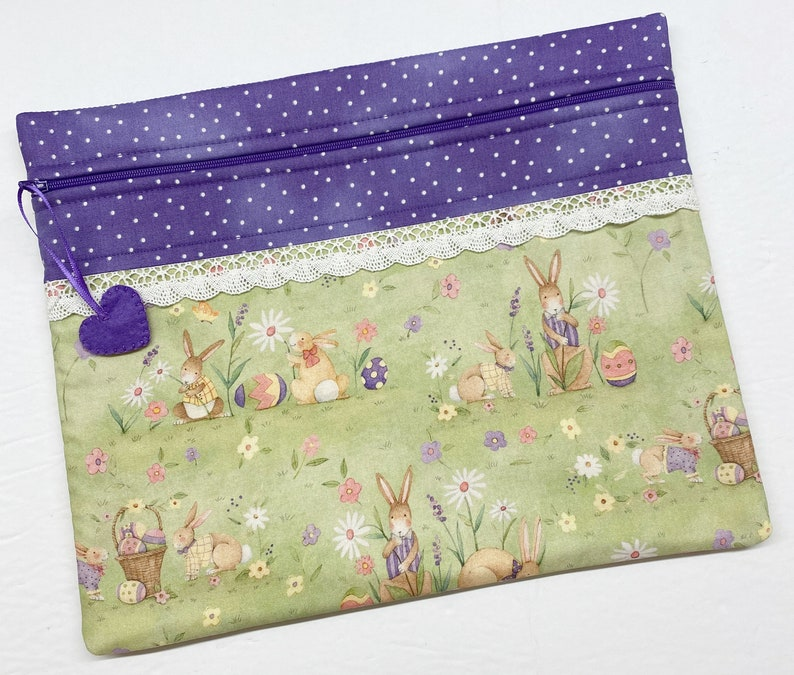 Peter Cottontail Cross Stitch Project Bag
