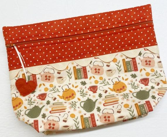 Lil' Big Bottom Tea and a Good Book Cross Stitch Bag