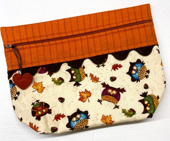 Lil' Big Bottom Autumn Owls Cross Stitch Bag