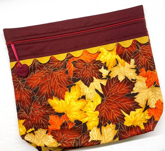 MORE2LUV Maple Leaves Project Bag