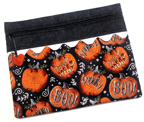 Boo Pumpkins Cross Stitch Project Bag