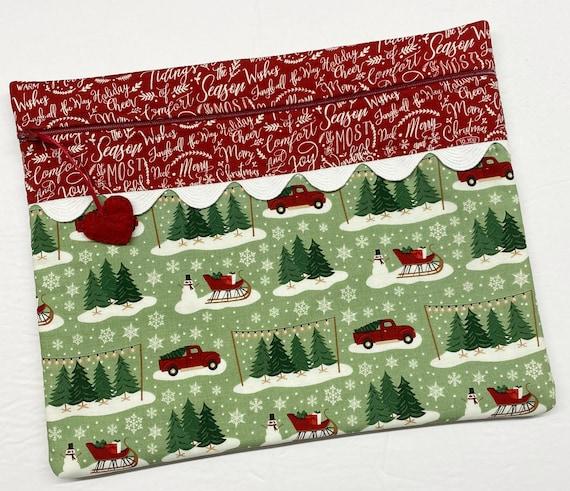 Christmas Tree Farm Cross Stitch Project Bag
