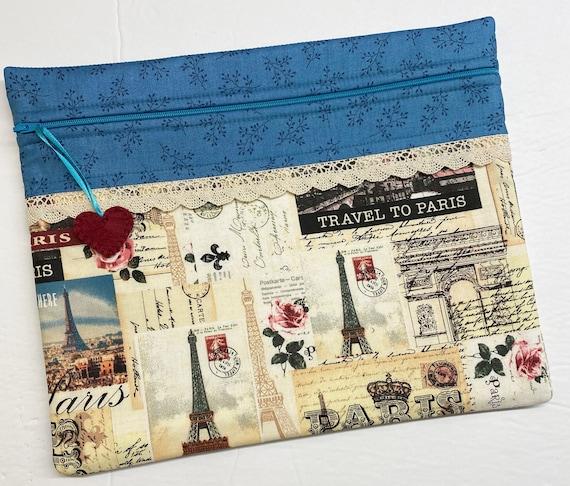 Travel to Paris Cross Stitch Project Bag