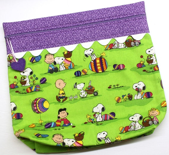 MORE2LUV Peanuts Easter Cross Stitch Project Bag