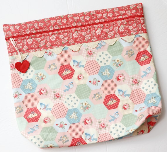 MORE2LUV Sweet Hexies Cross Stitch Project Bag