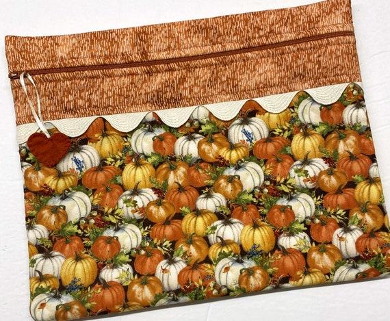 Rustic Pumpkins Cross Stitch Project Bag
