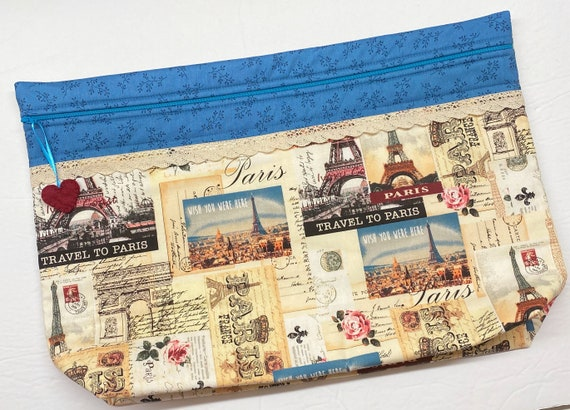 LOTS2LUV Travel to Paris Cross Stitch Project Bag