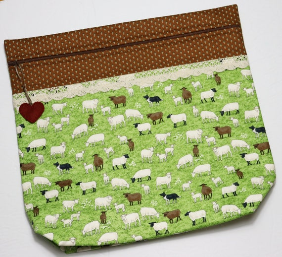 MORE2LUV Sheep in the Meadow Cross Stitch Project Bag