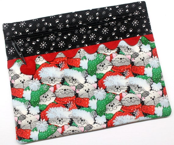 Santa Paws Cats Cross Stitch Project Bag