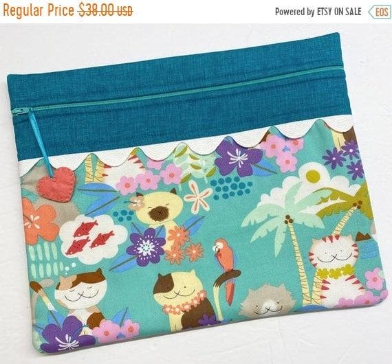 SALE Aloha Kitties Cross Stitch Project Bag