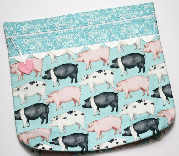 MORE2LUV This Little Piggy Cross Stitch Project Bag