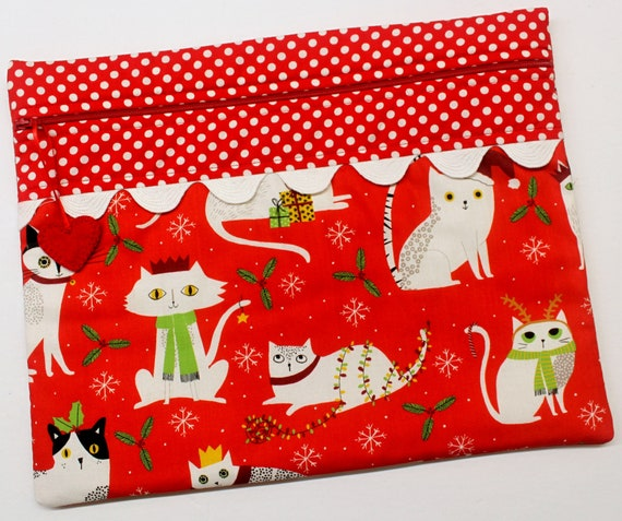 Christmas Kitties Cross Stitch Project Bag