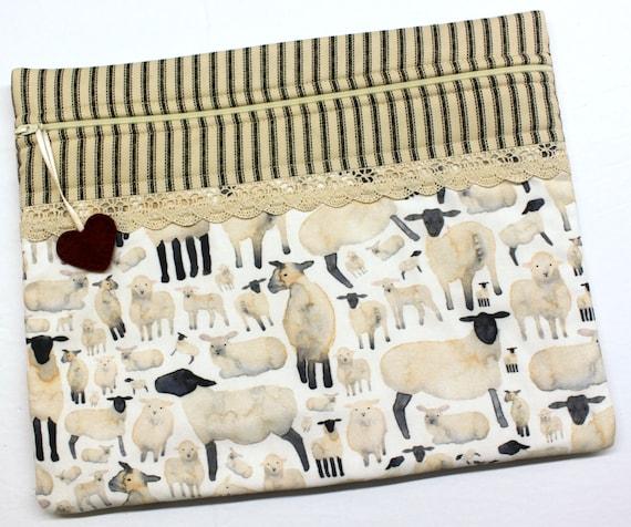 Primitive Sheep Cross Stitch Project Bag