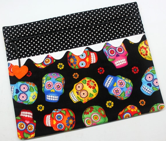 Black Sugar Skulls Cross Stitch Project Bag