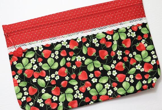 LOTS2LUV Strawberry Fields Cross Stitch Project Bag